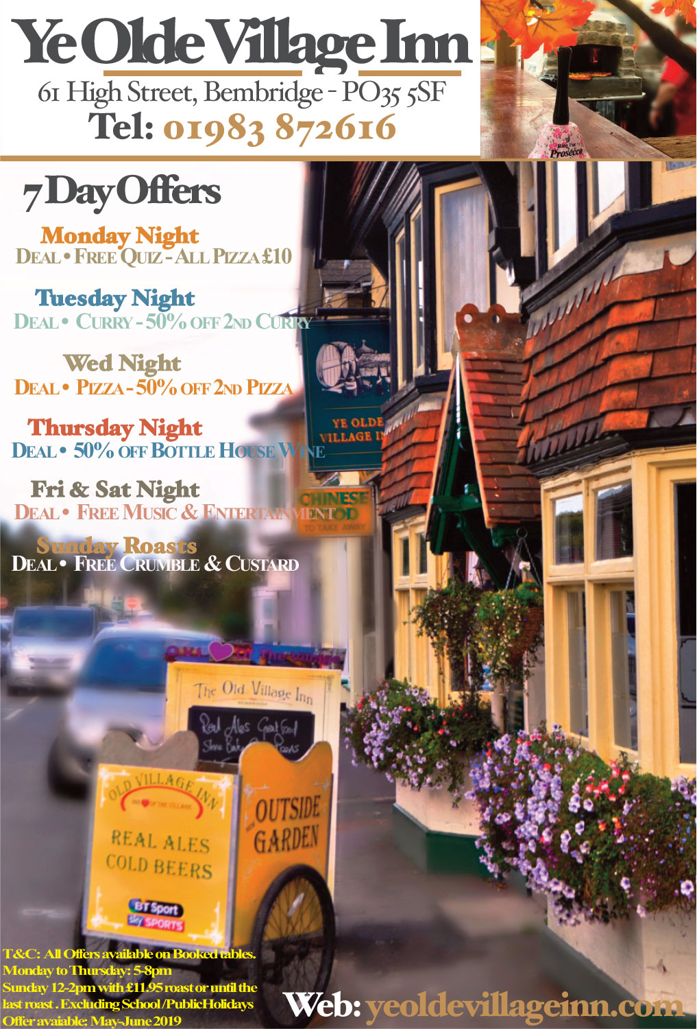 Ye Olde Village Inn - 7 Day Offers - February 2020