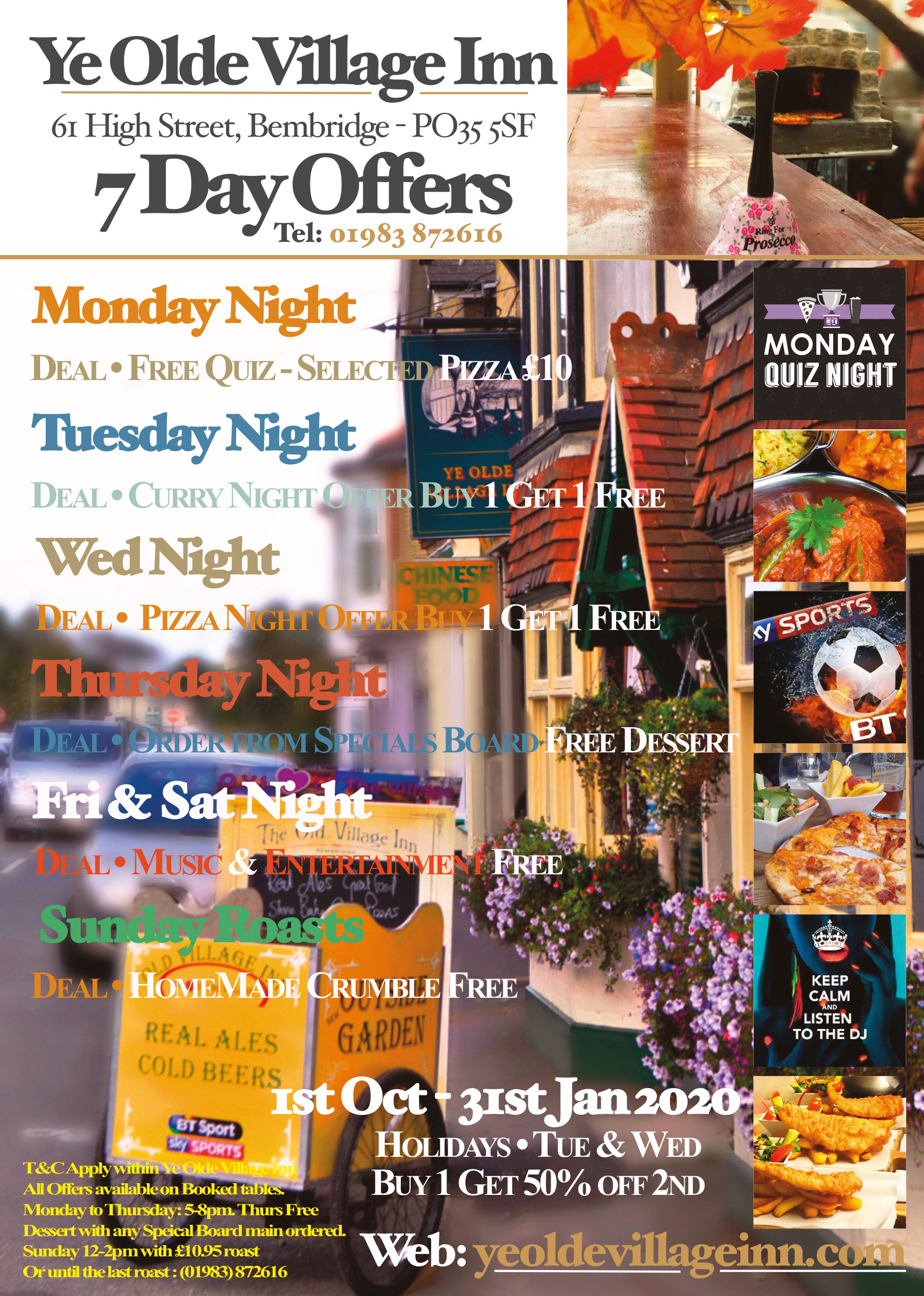Ye Olde Village Inn - 7 Day Offers
